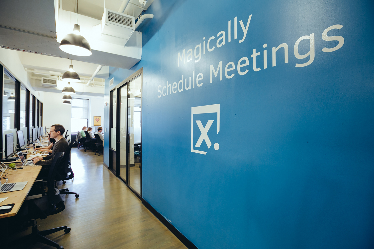 x.ia office assistants using artificial intelligence to magically schedule meetings