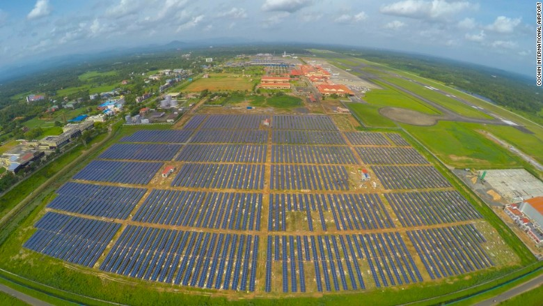 solar powered airport in India