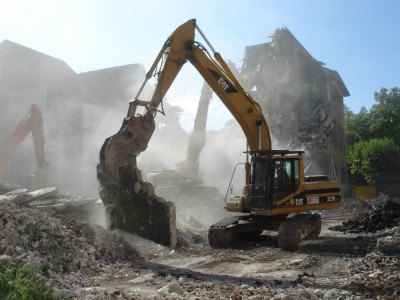 Abriss bagger demolition