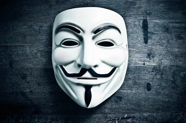 mask of Anonymous hacker group