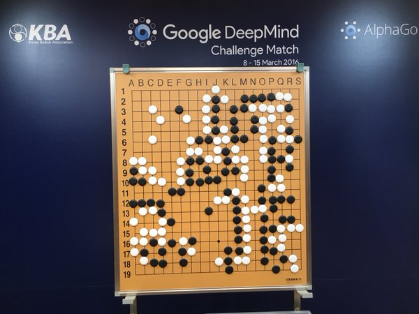 Google's DeepMind artificial intelligence system playing game of Go