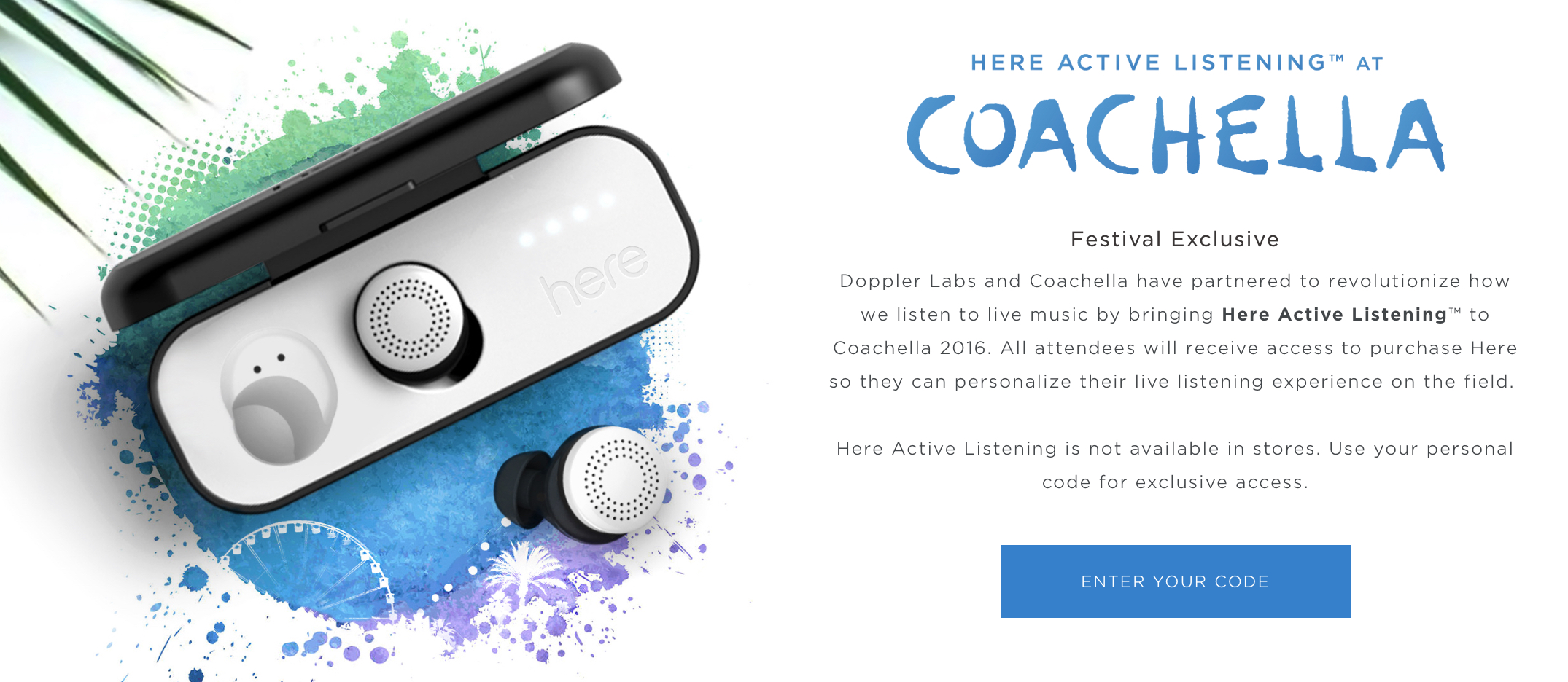 Here Active Listening earbuds promoted at Coachella