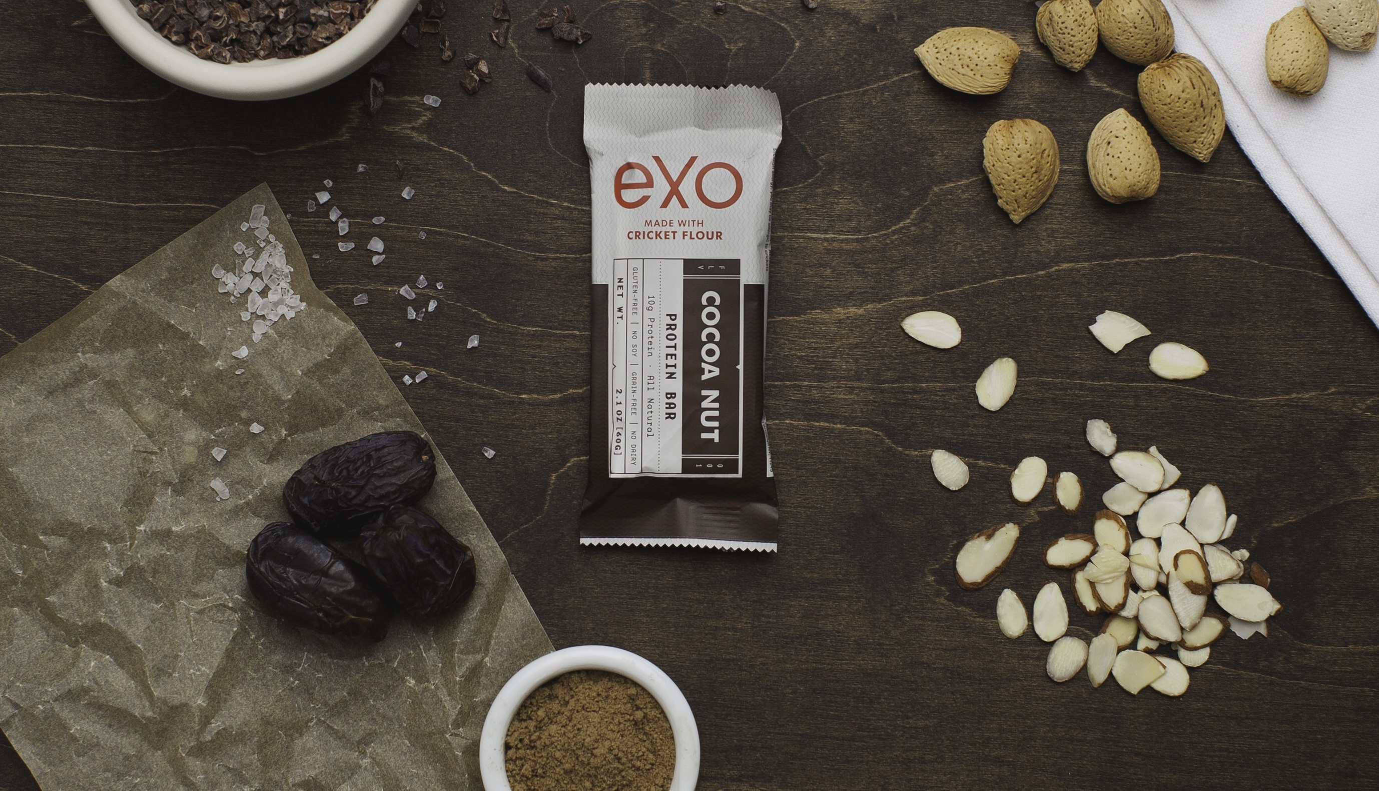 Exo cricket flour protein bar