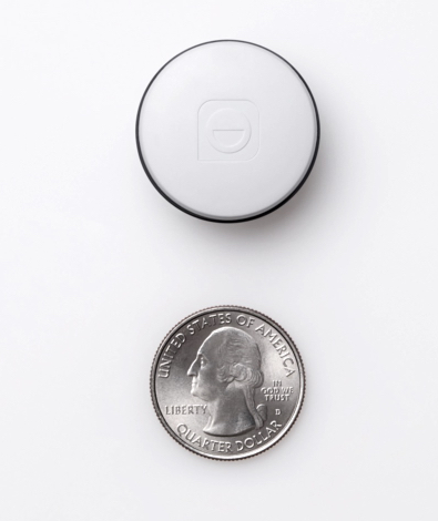 the Sleep Pill tracker from Hello compared to a quarter