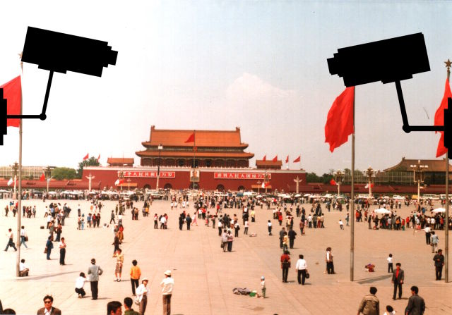 video cameras watching China like Minority Report movie