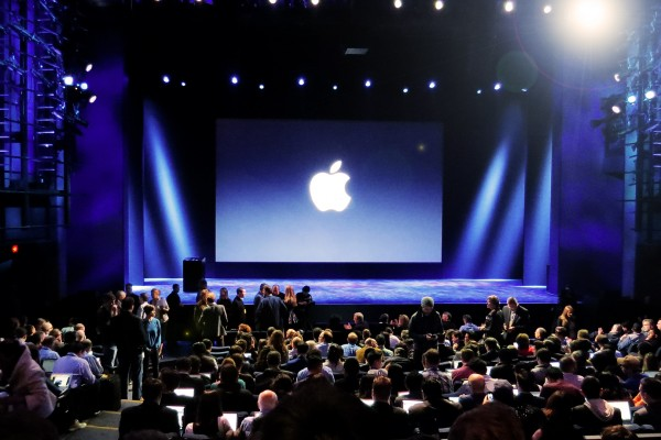 stage at 2016 Apple announcement event