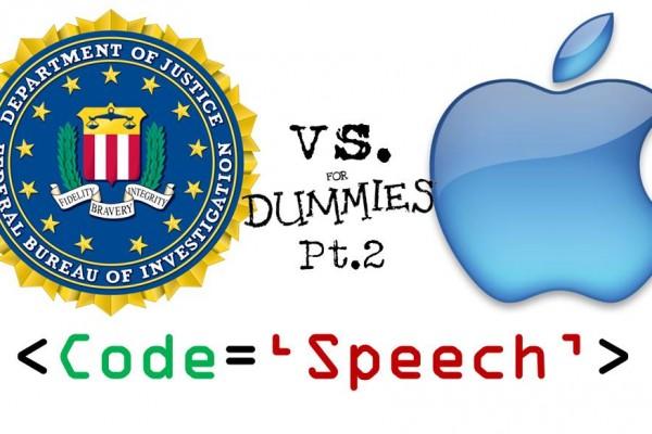 Apple vs FBI part 2, does code equal free speech