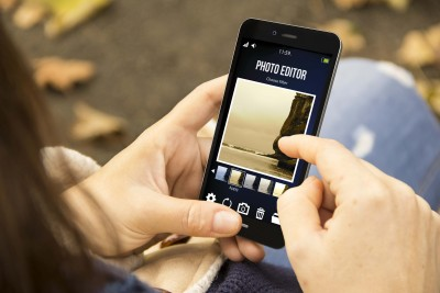 editing photos on smartphone for Instagram