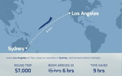 boom flight to sydney