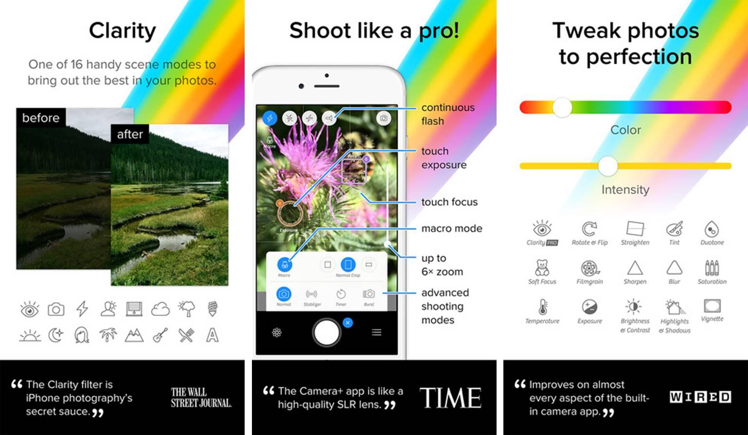 Camera+ photography app