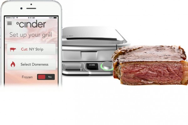 Cinder smart grill and app for cooking steaks to perfection