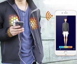FlexWarm smart jacket uses an app to control temperature