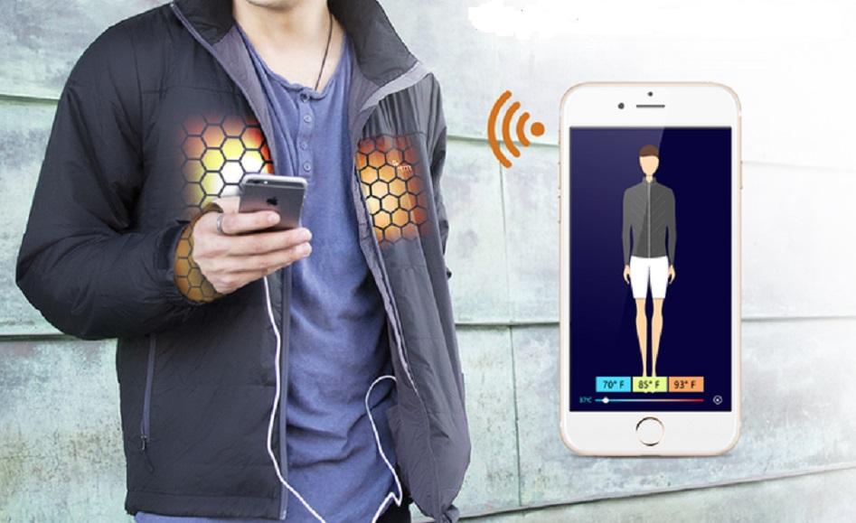 FlexWarm smart jacket uses an app to control temperature
