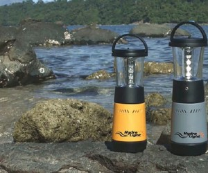 Hydra-Light camp light powered by salt water