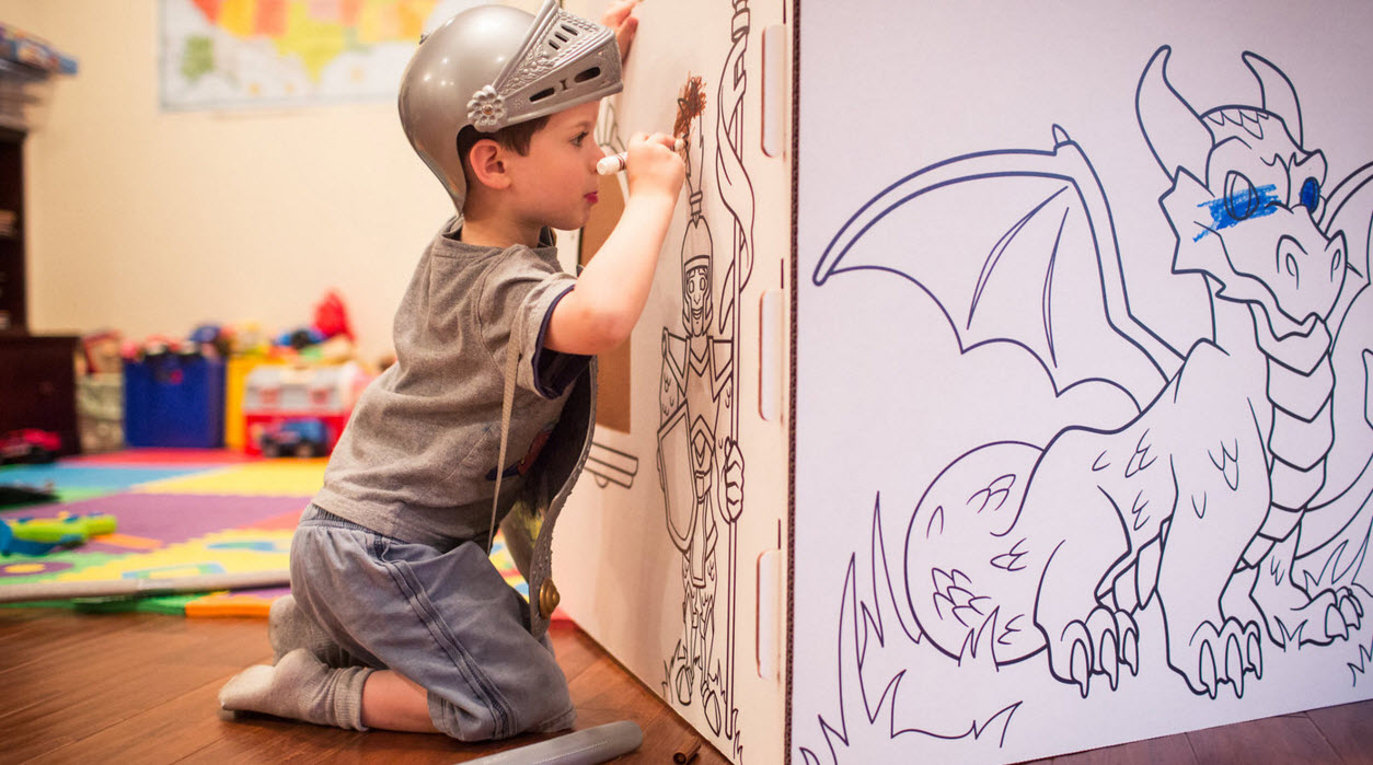 popup play coloring