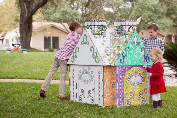 PopUp Play's real life playhouse built with an app