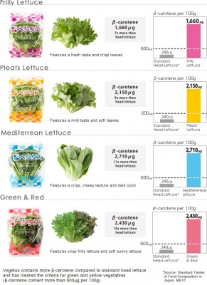 varieties of lettuce produced by Spread's robot farms