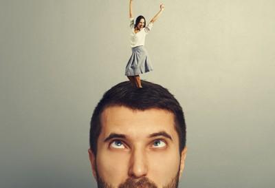 male tech worker thinking about women