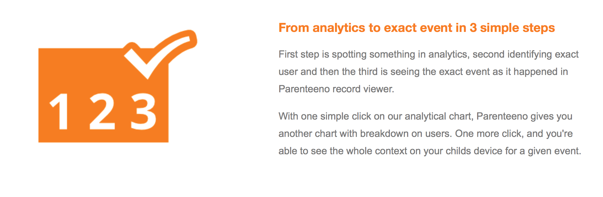 kid analytics and monitoring feature in Parenteeno