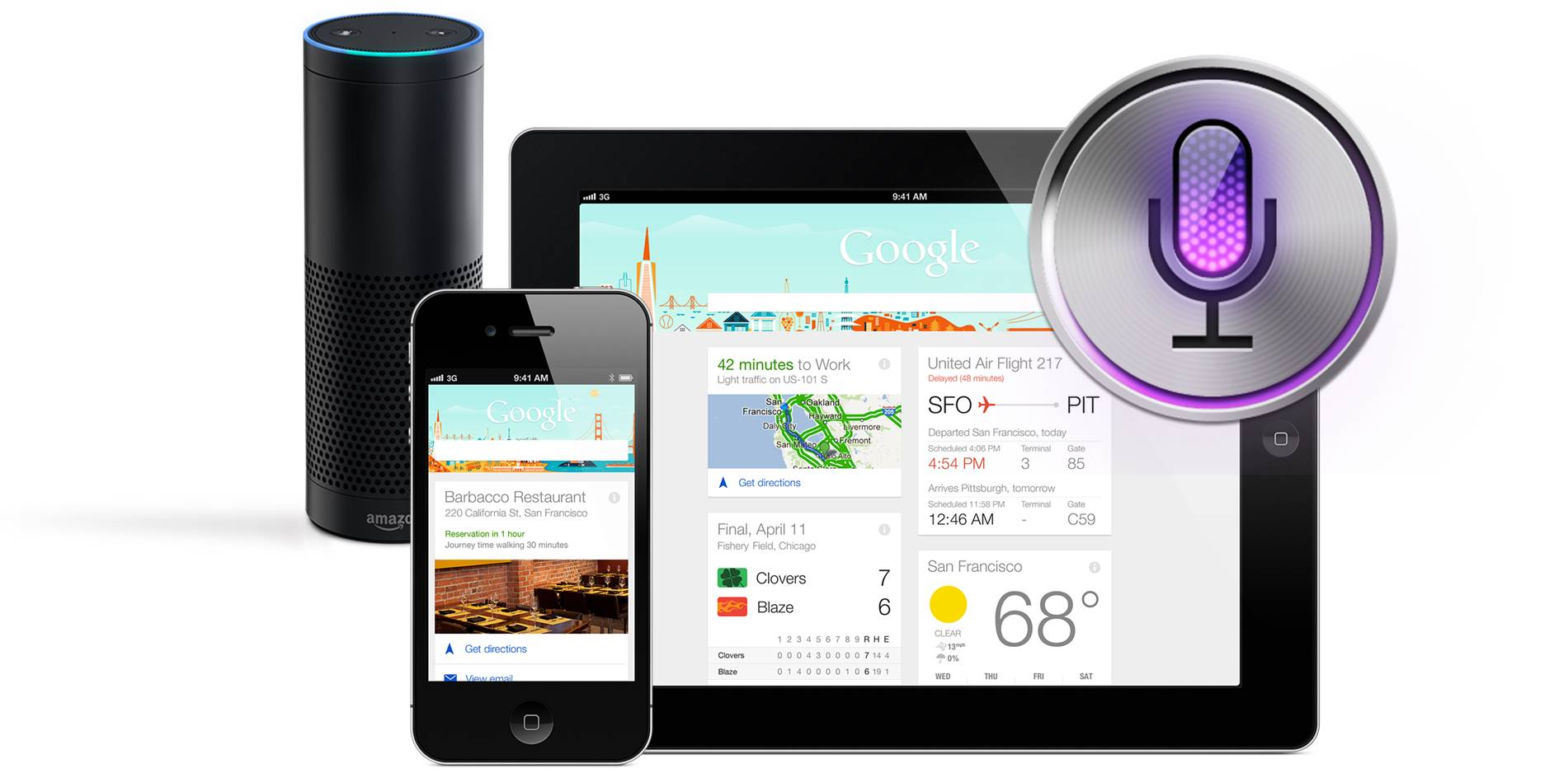 Amazon Alexa, Google Now & Apple Siri talking to each other