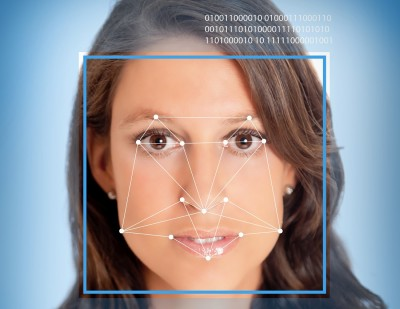 facial recognition software identifying woman