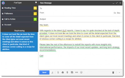 foxtype email politeness