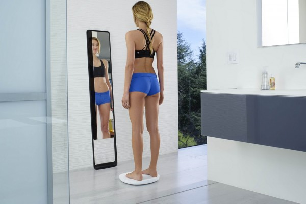 fitness tracking mirror and scale from Naked
