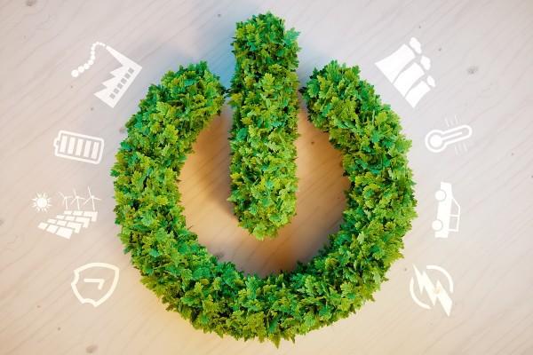 wreath representing renewable energy startups