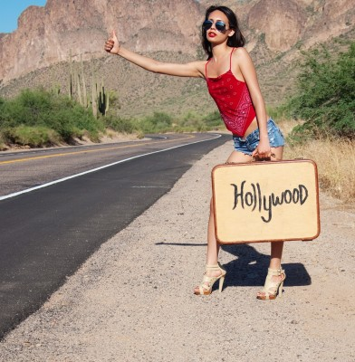 hitchhiking to Hollywood to talk with influencers and celebrities