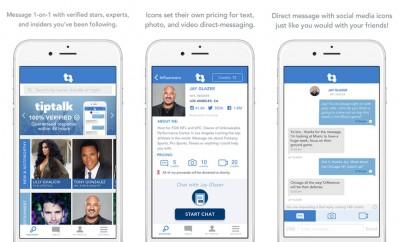 tiptalk celebrity app screenshots