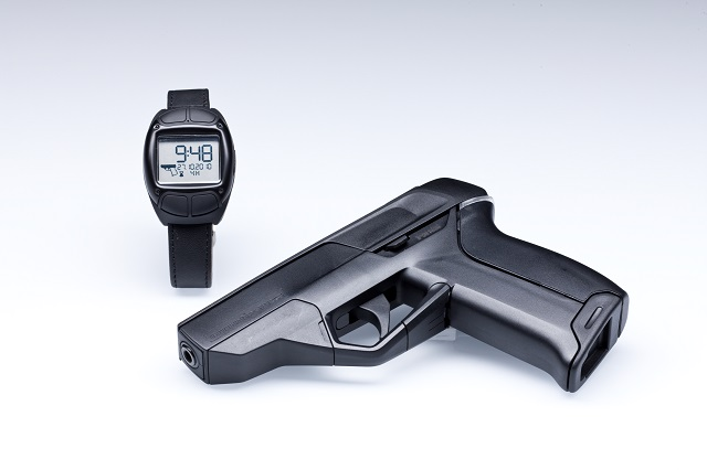 Armatix smart gun with bluetooth wristband