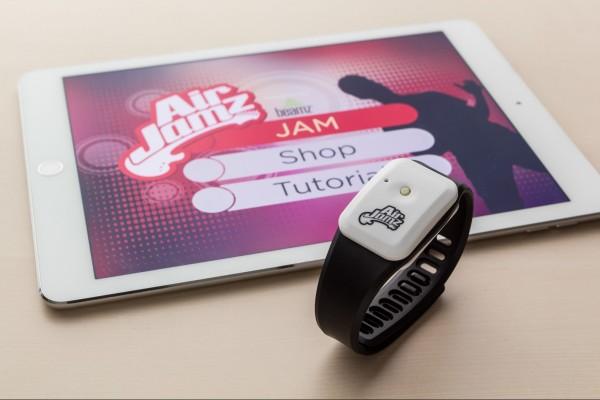 AirJamz Jamz Stick wearable air guitar and iPad app