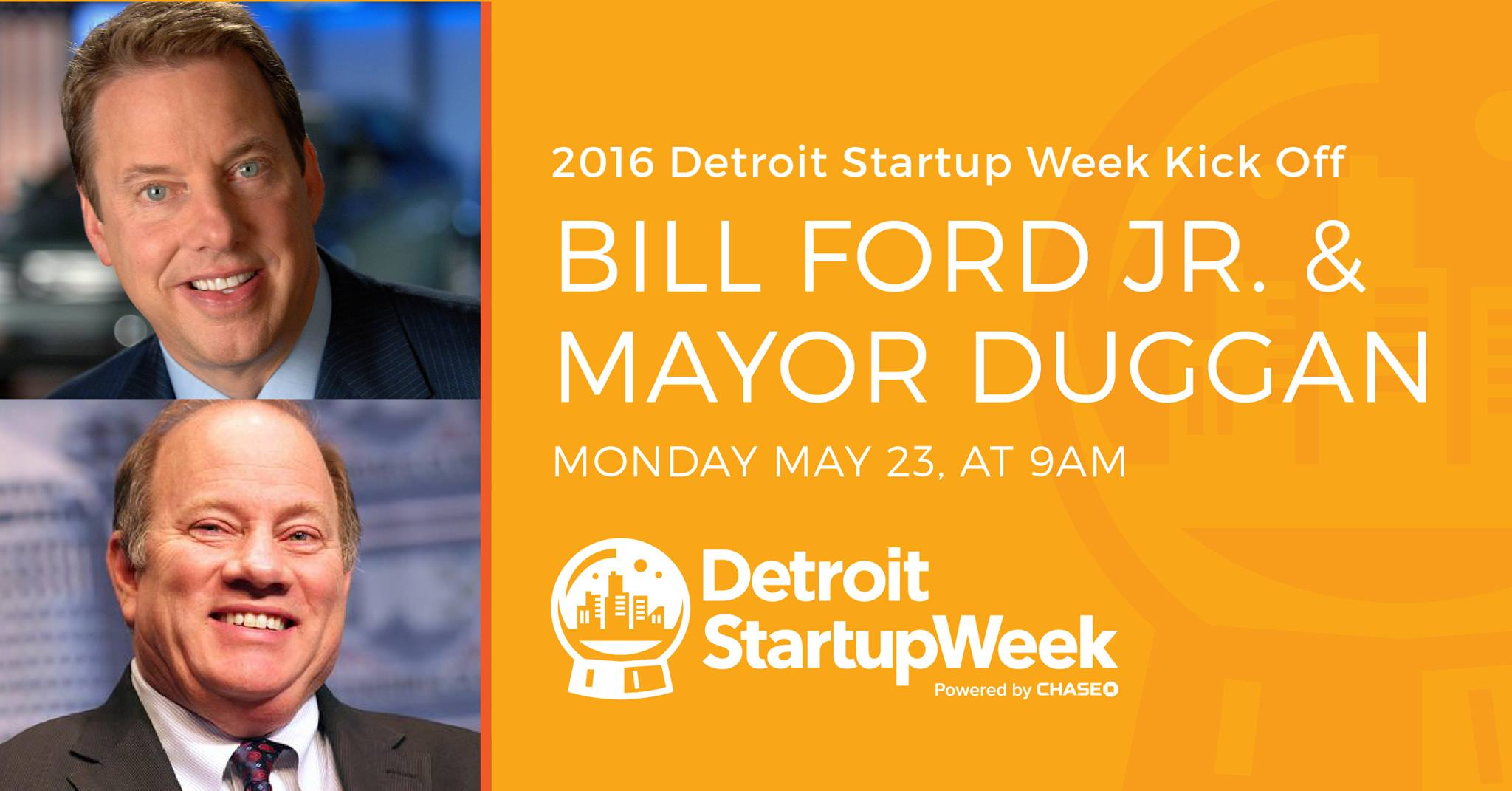 Detroit Startup Week opening speeches by Bill Ford Jr. and Mayor Duggan