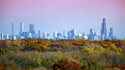 Chicago startup scene and skyline