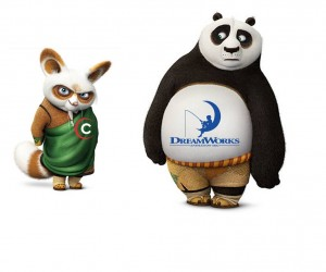 evil Comcast rabbit buying DreamWorks Animation panda