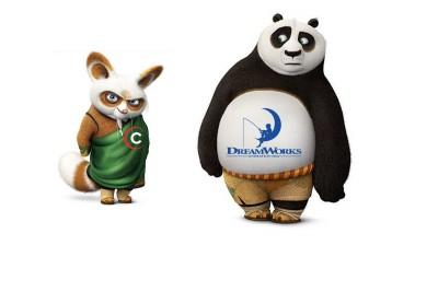 evil Comcast rabbit buying DreamWorks Animation panda