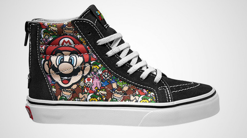 Nintendo branded Vans shoes with Super Mario