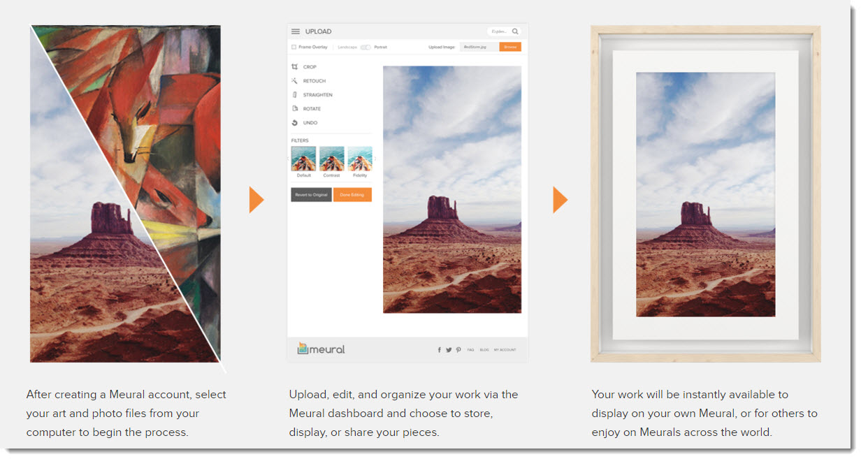 Meural digital canvas displaying your own art