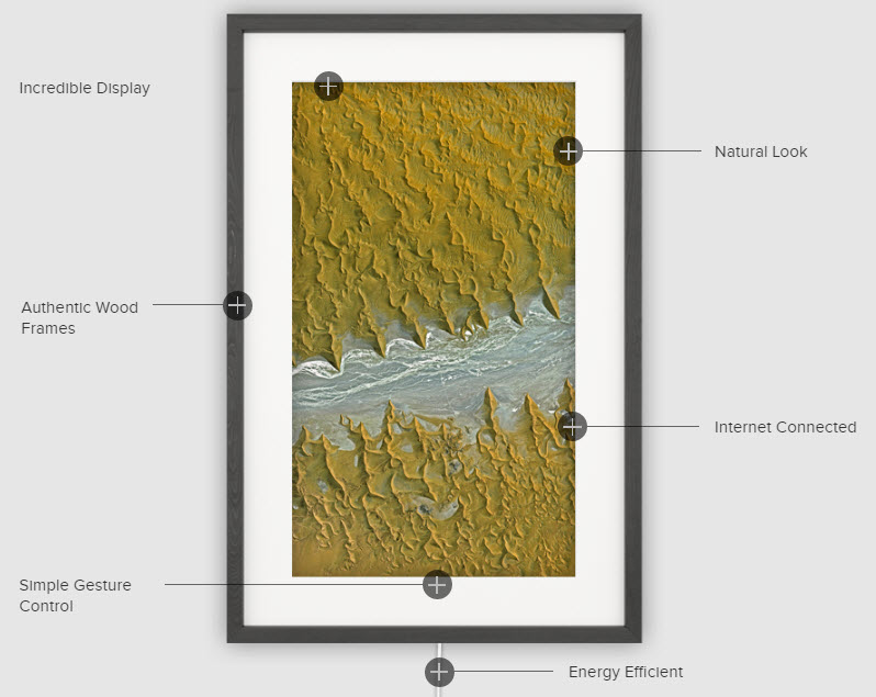 Meural digital picture frame for art