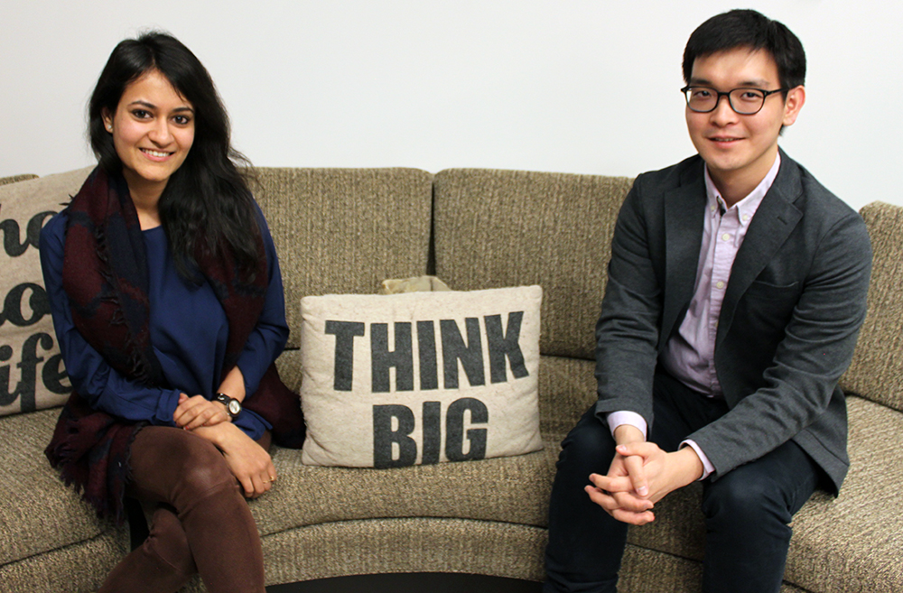 founders of Cubii under-desk elipticals, Shivani Jain and Ryota Sekine