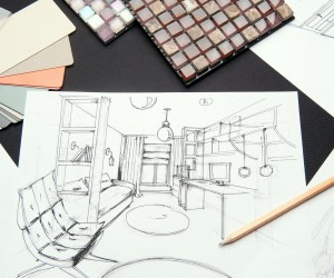 interior design sketch