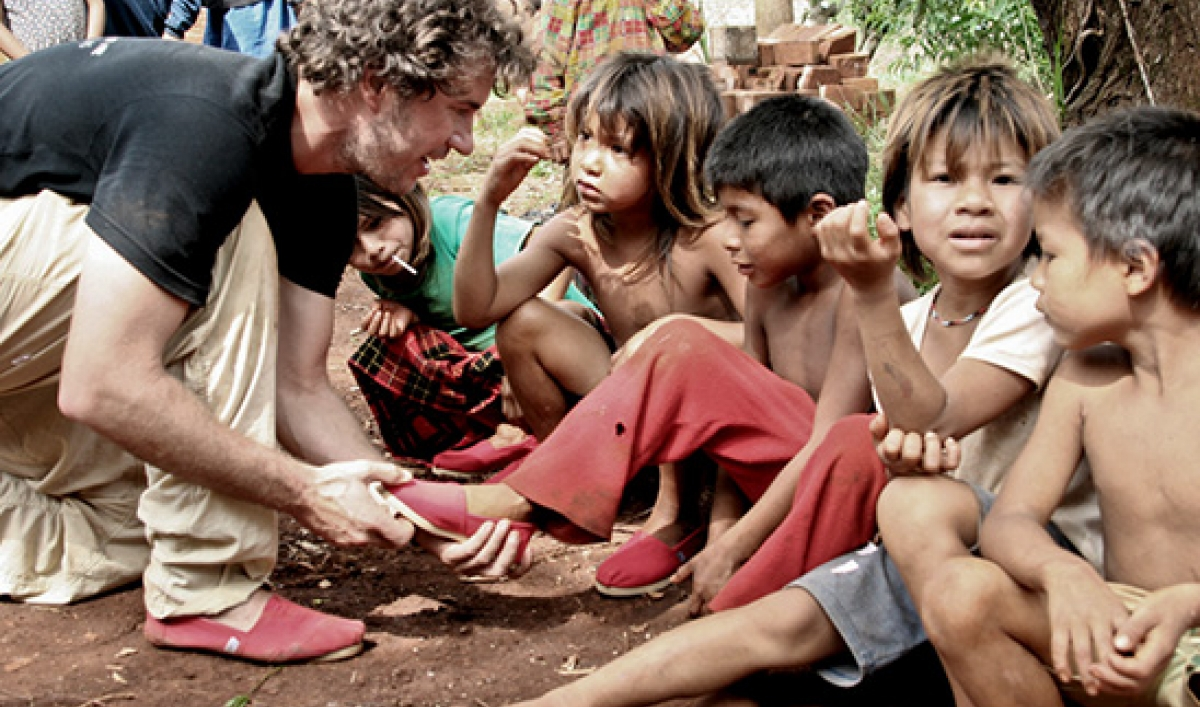 impact entreprenuership being practiced by the founder of TOMS shoes