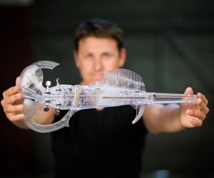It's A 3D Printed Transparent Electric Stradivarius Replica, And You Can Still Back It