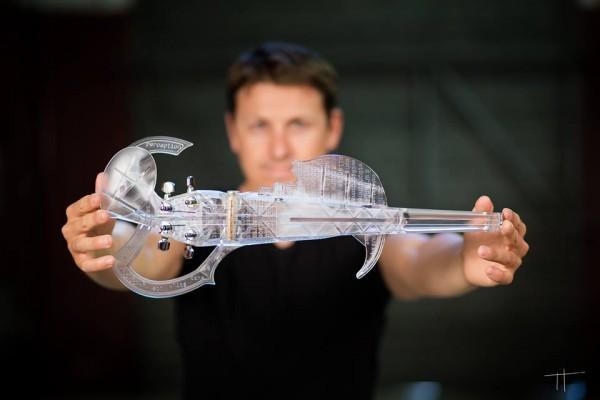 3Dvarius 3D printed electric violin replicating a Stradivarius