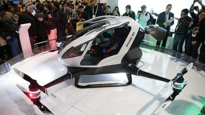 human drone taxi