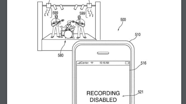 apple patent for disabling recording