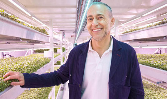 Michel Roux Jr.,  of London startup Growing Underground