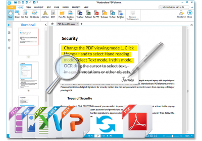 PDF editor and manager by Wondershare, PDFelement