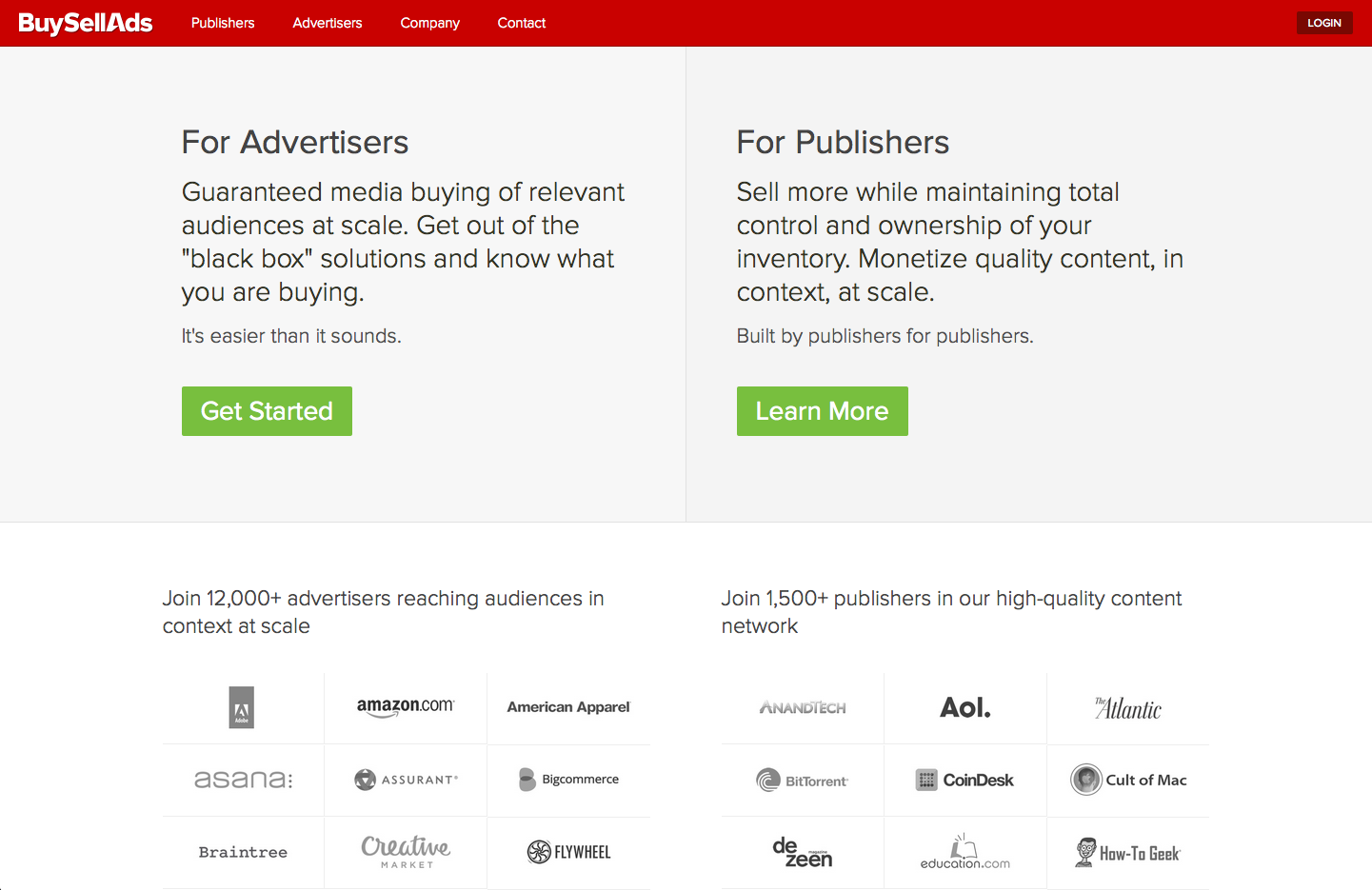 Buysellads ad publishing network, founded by Todd Garland