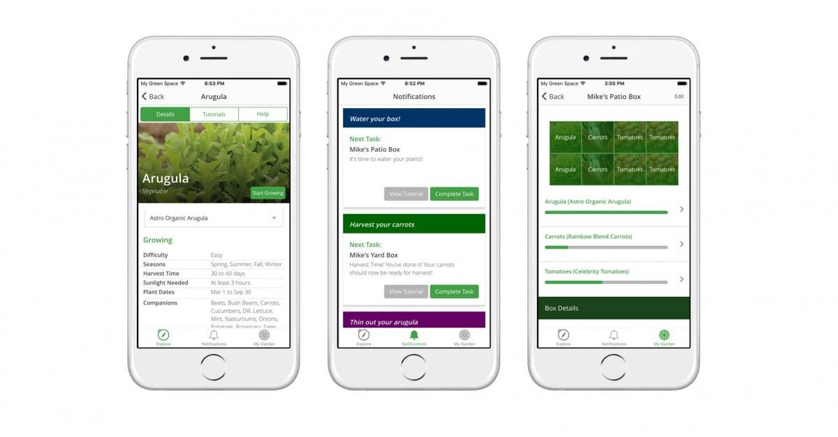 My Green Space app screenshots